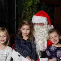 Laker sisters pose with Santa